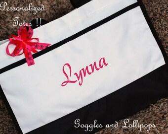 Bride Personalized tote bag wedding bridesmaid flower girl overnight beach