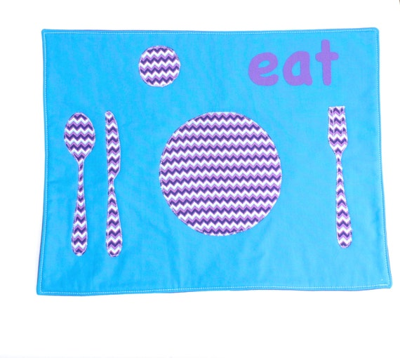 Set the Table Placemat Montessori Fun Educational ZigZag Left Place Mat by BonTons on Etsy