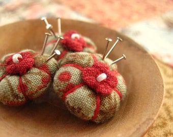 MADE for YOUR DOLL -  The Picca-Little Miniature Pincushion in Winter Berry