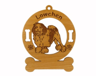 3508 Lowchen Standing Personalized Dog Ornament