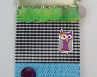 BO BUNNY Wraps RibbonTrim - Scrapbook Embellishment  - owl halloween