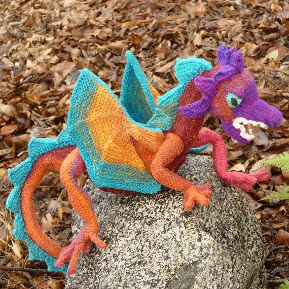 Knitting Pattern For Dragon : Doughty Dragon Knitting Pattern