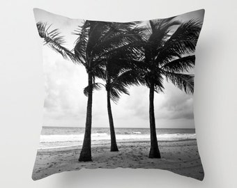 Palm Tree Pillow Cover, Palm Trees, Beach Decor Allover Print 16 X 16 in. Tropical House Decor