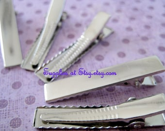 Special wholeSale Price  Silver Hair  Alligator  Clip -Hair barette clips with Teeth  DIY-Hair Accessory Supplies