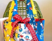 Girls Purse, Childs Purse, Dr Seuss Purse, Birthday Party Favor, Stripwork Purse