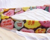Valentine Custom Dog Collar with Candy Hearts Sizes XS to XL
