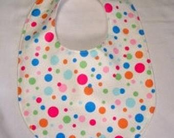 Clearance Baby Bib Dots Multicolor, Baby Bib Gender Neutral