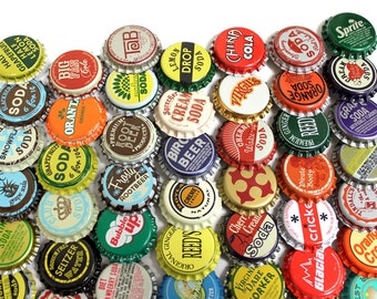100 Vintage & Vintage Inspired Random Bottle Caps FREE SHIPPING