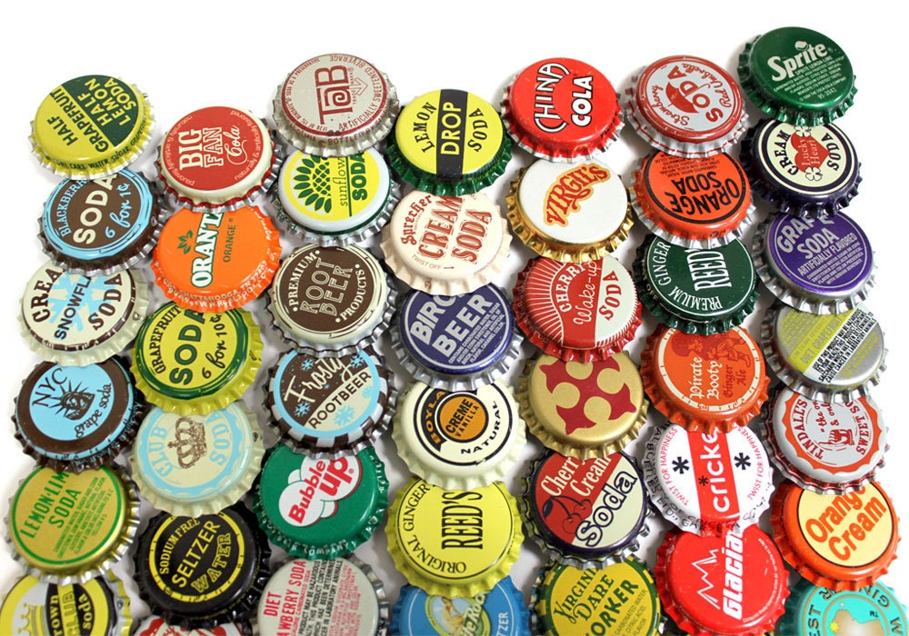 50 Vintage Amp Vintage Inspired Random Bottle Caps Collectible