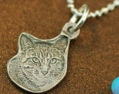 Personalized Photo Engraved Pet Silver Charm
