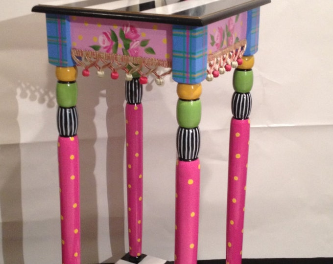 Whimsical Painted Furniture, Whimsical Painted Table // Whimsical Painted Furniture // Alice in wonderland furniture