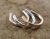Septum Retainer Round gold septum retainer/silver septum retainer/pink gold septum retainer/round septum retainer/Open Earrings/Nipple Rings