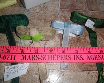 4 Assorted Wire Edge Ribbon trims all 3 plus yards long