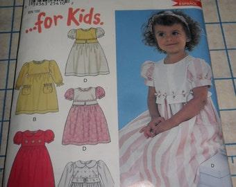 NEW LOOK Girl's Dress Pattern 6136 - UNCUT in size 1/2 thru 4