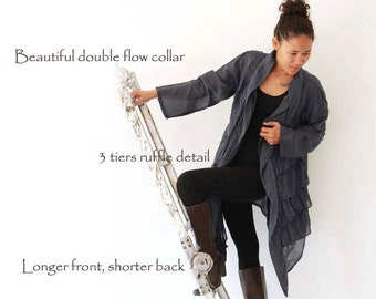 Sweet love...jacket tunic blouse...mix silk all colors/ all sizes (1407)