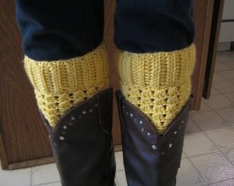 Boot Cuffs in Sunshine yellow