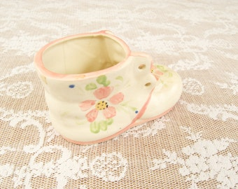 Vintage Porcelain Baby Shoe Pink