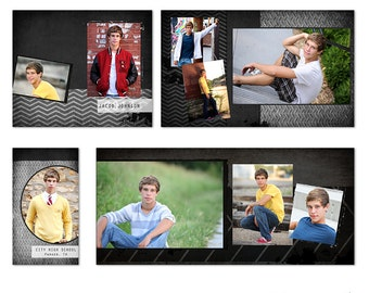Jacob 4x8 Accordion Album for Senior Guys - Photoshop Templates for Photographers - AA2001