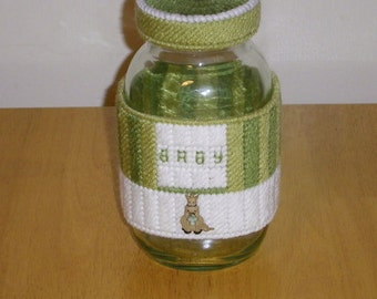 Green Baby Jar Wrap PATTERN ONLY