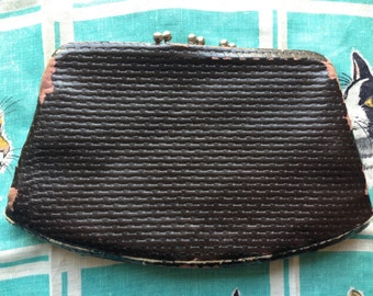 Vintage 1930's brown clutch NRA label