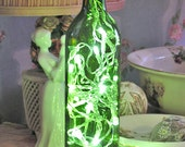 Lighted Wine Bottle, Green - Battery operated - LED lights