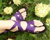 Flat Thong Ribbon Sandals by Mohop | Handmade Shoes with 5 Interchangeable Ribbons