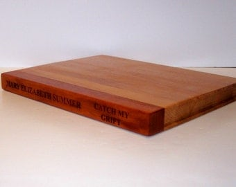 Laser Engraved Hardback Book Cutting Board