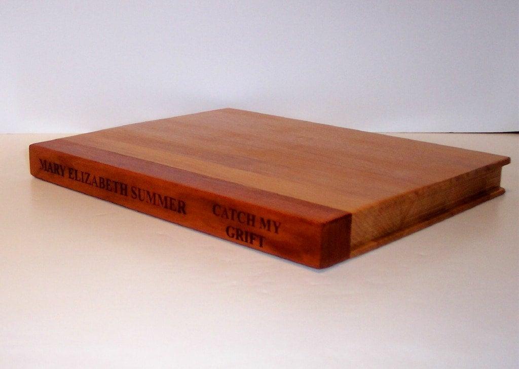Laser Engraved Hardback Book Cutting Board
