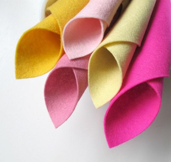 , Pink Lemonade Color Story, Pure Merino, Five Felt Sheets, Lavender ...