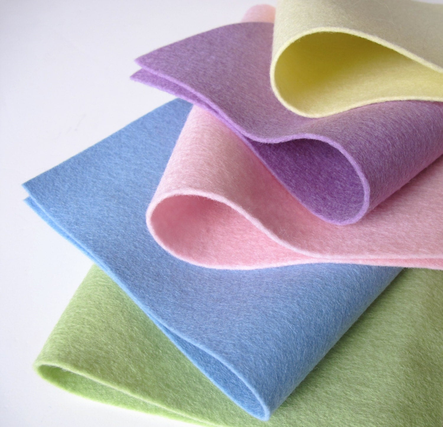 Wool Felt Sheets Pastel Color Story 8x12 Inch 100