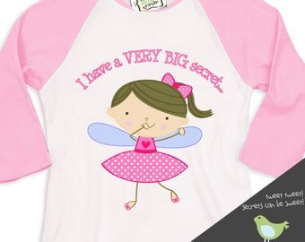 Big sister shirt-Secret Happy to be me fairy big sister announcement t-shirt