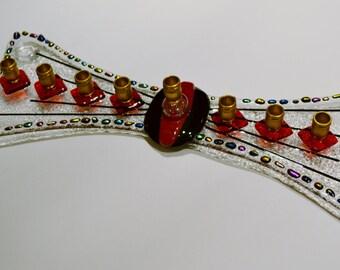 Sweet bow glass menorah by YafitGlass