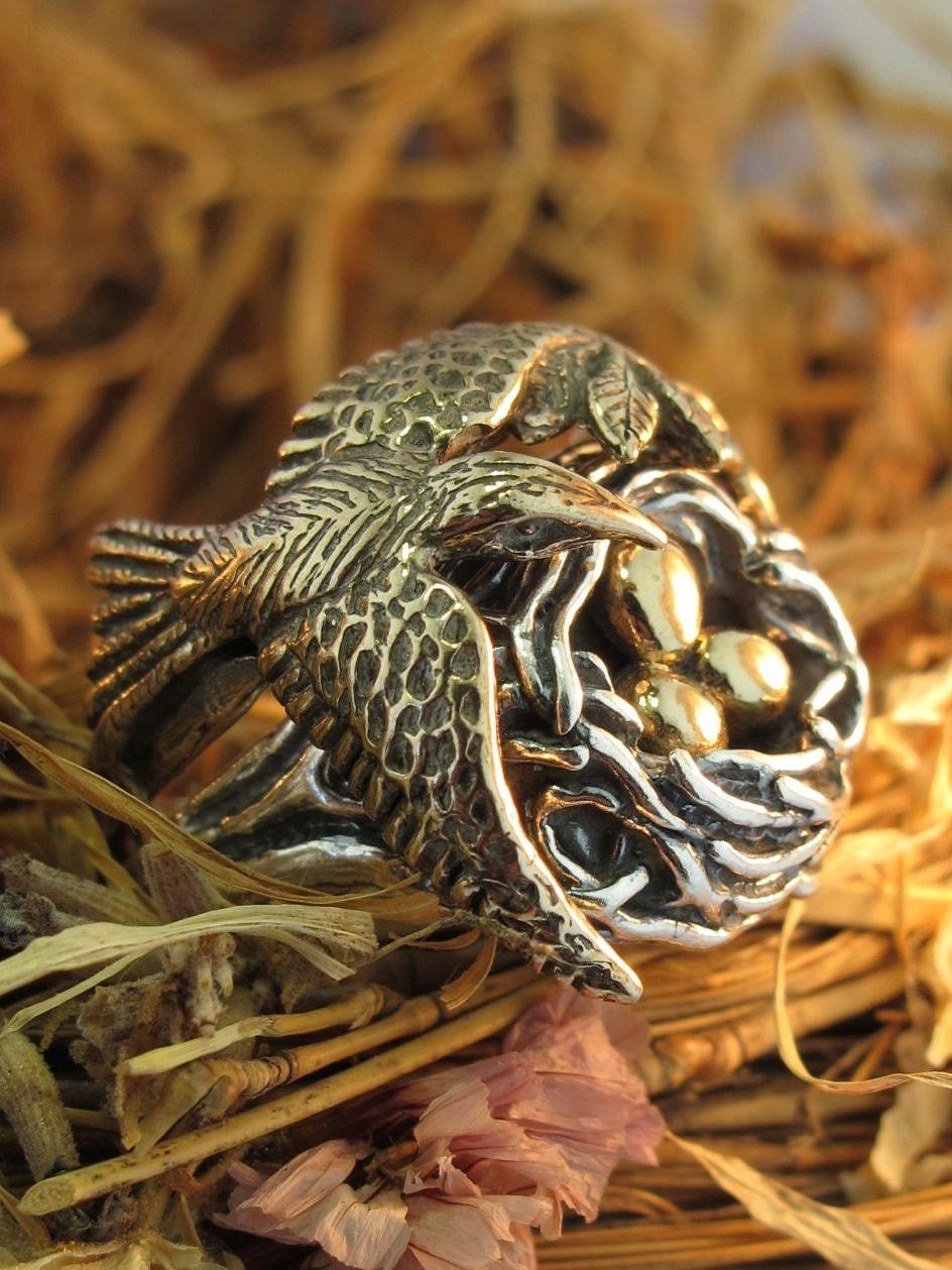 Etsy Bird Nest Ring