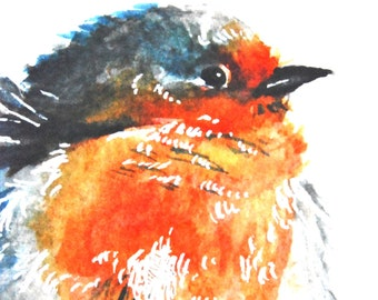 "Watercolor Painting, Giclee Print, Blue Bird, 8""x10"""