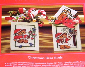 Christmas Bear Totes Cross Stitch Kit