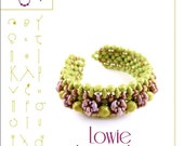 Bracelet  tutorial / pattern Lowie with superduo beads ..PDF instruction for personal use only