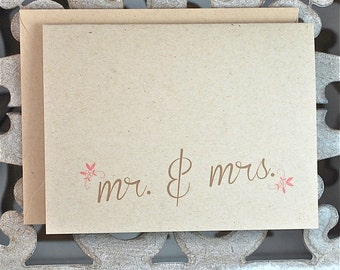 Recycled Wedding Thank You Cards . Wedding Thank You Notes . Thank You Cards Wedding - Mr & Mrs