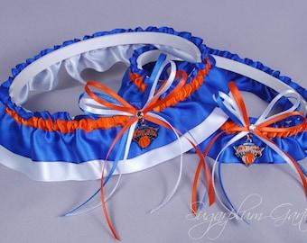 New York Knicks Wedding Garter Set
