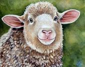 Original Fine Art  Sheep painting by Laura Carey corridale spring lamb