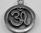 2 x small  Ohm  pendant or charm made with Australian pewter 1 bail
