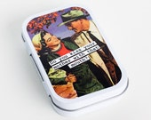 Do You Kiss Your Mother With That Mouth-- (Hinged Metal Altered Tin/Gift Tin/Altoid Tin/Mint Tin)