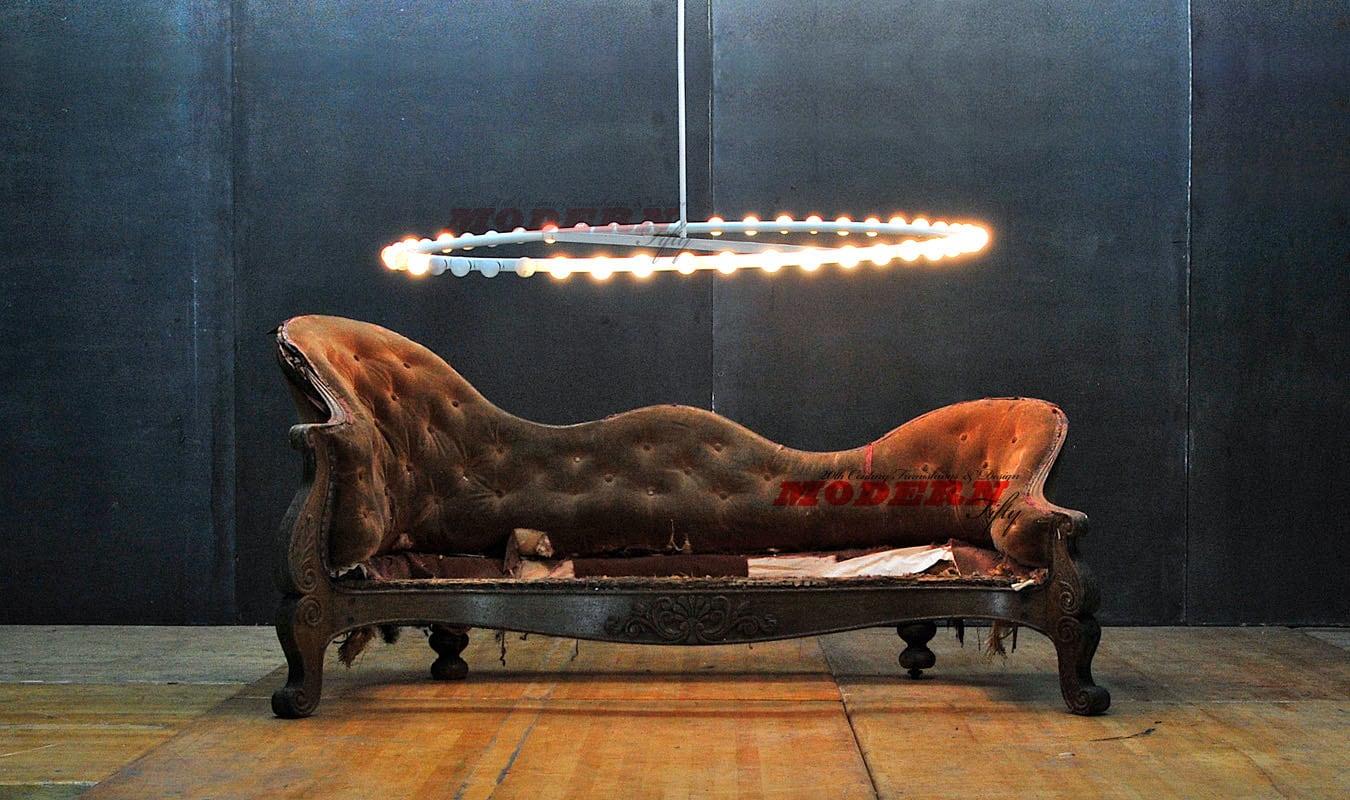 Sold 1800s french victorian rococo era canape mahogany for Canape decoration
