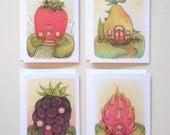 Fruit House's - 4 Card Set