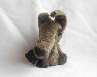 Artist bear wolf made to order by Sylvie Touzard