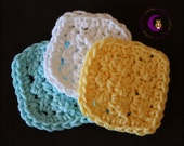 Exfoliating facial scrubbie set of 3