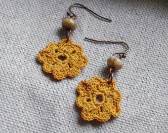 Neenah Crochet Earrings- Gold