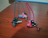 Custom order for Heather C - Set of 3 heart necklaces