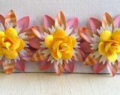Set of 3 Paper Flowers - Sweet Spring Roses -