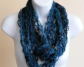 Starry Night Infinity Scarf Crochet Women Accessories