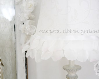 rose petal fairytale - a dreamy rose petal ribbon garland